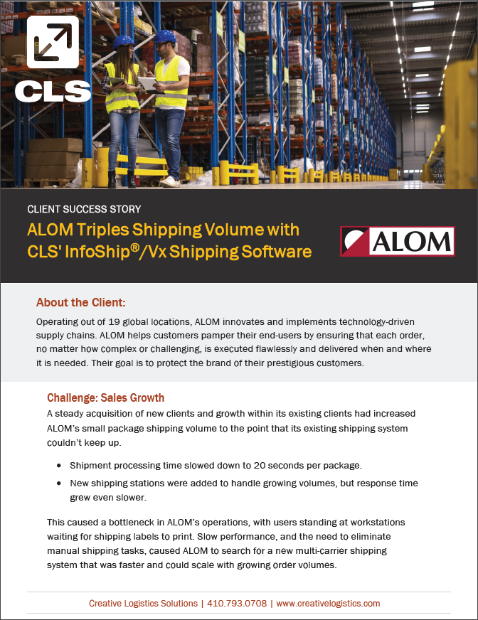 ALOM Multi-Carrier Shipping Case Study