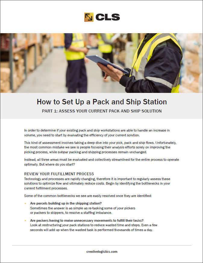 Integrated Pack/Ship Stations with Multi-Carrier Shipping