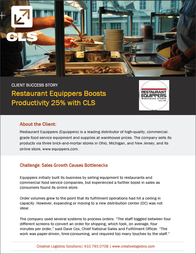 CLS Client Success Story – Restaurant Equippers